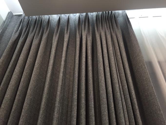Kiểu may rèm chiết ly cho rèm vải Hàn Quốc phòng ngủ