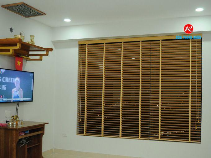 Mành gỗ MSJ-006 che cửa sổ phòng khách