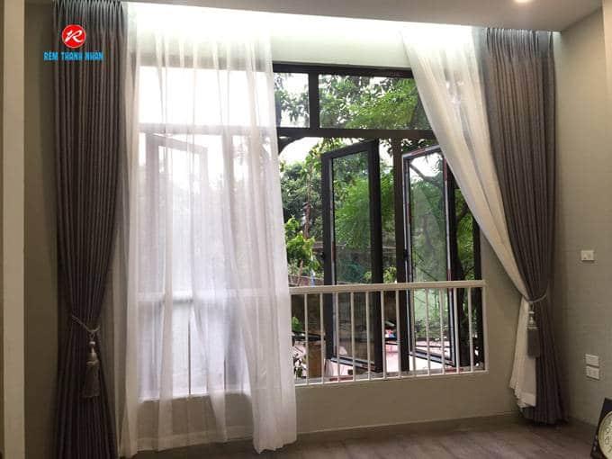 Màn cửa đẹp vải Hàn Quốc phòng ngủ