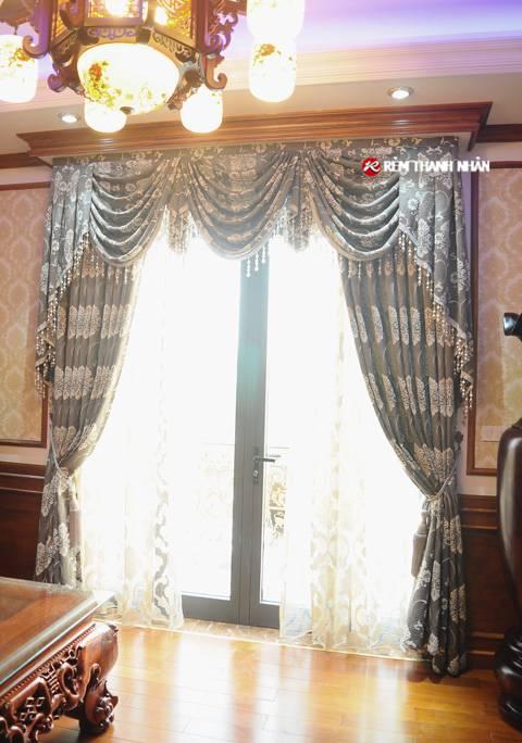 Rèm cửa hoa văn phòng thờ