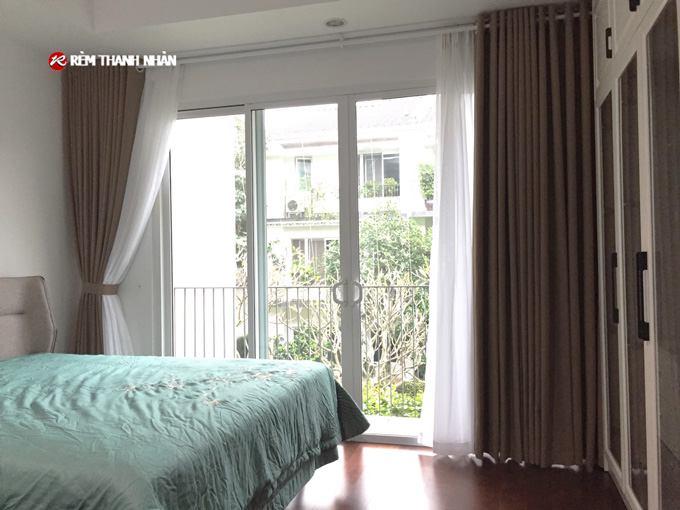 Rèm cửa 2 lớp vải Nhật đẹp giá rẻ cho phòng ngủ ở Hà Nội