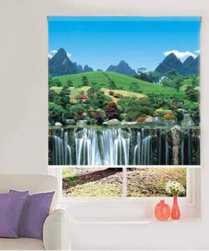 rèm cuốn tranh MT-36122 phong cảnh