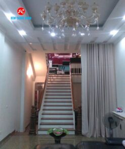 Rèm điều hòa phòng khách có cầu thang TN108-2