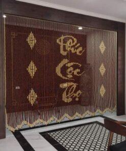 Rèm hạt gỗ Hương Ban thờ Phúc - Lộc - Thọ