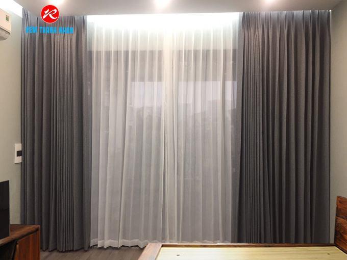 Rèm vải 2 lớp chống nắng Hàn Quốc