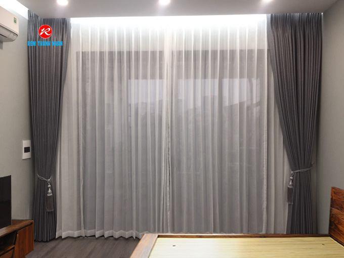 Rèm vải Hàn Quốc đẹp 2 lớp cho phòng ngủ