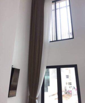 Rèm cửa tự động vải Nhật Bản cho phòng khách