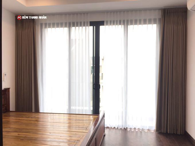 Rèm cửa đẹp phòng ngủ 2 lớp vải Nhật