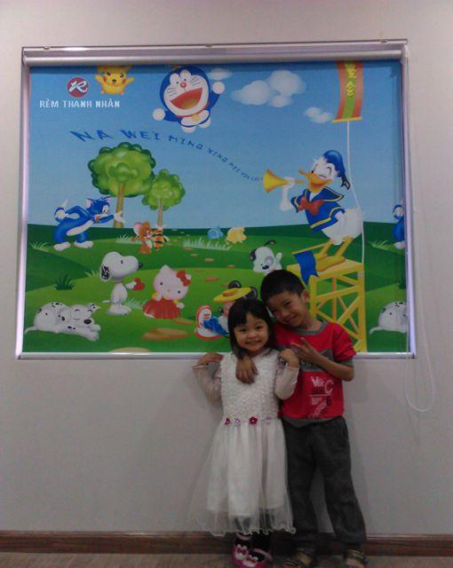 Rèm cuốn tranh phòng trẻ