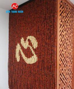 Rèm hạt gỗ Hương chữ Tâm cho Ban Thờ