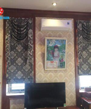 Rèm roman họa tiết 2 lớp RM2012-9 phòng ngủ