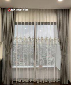 Rèm vải 2 lớp phòng khách RV568