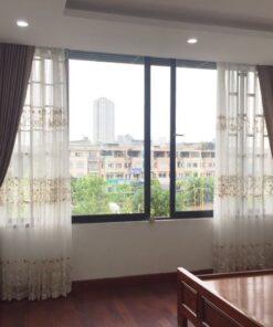 Rèm vải cửa sổ 2 lớp RV893-17 phòng ngủ