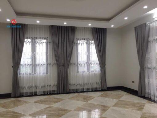 Rèm vải đẹp 2 lớp RV484-12 phòng khách