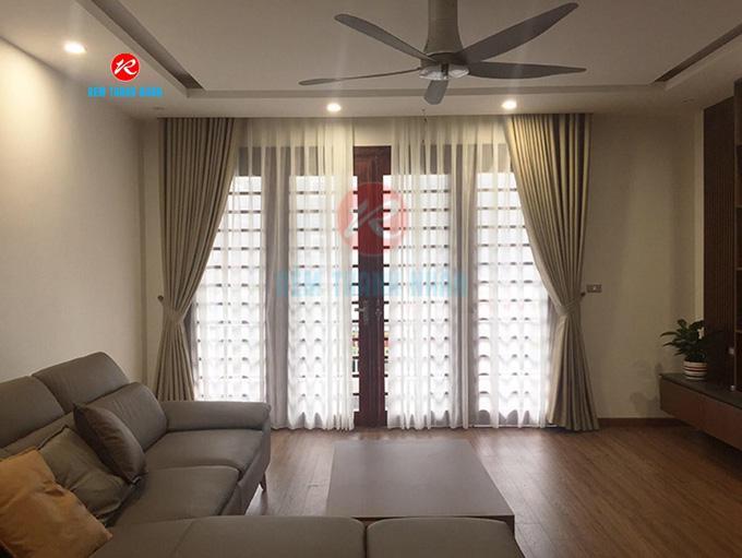 Rèm vải đẹp RV568-5 phòng khách