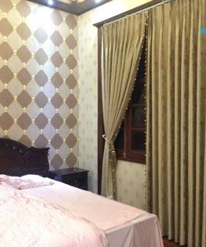 Rèm vải gấm họa tiết TN-172-10 cho phòng ngủ