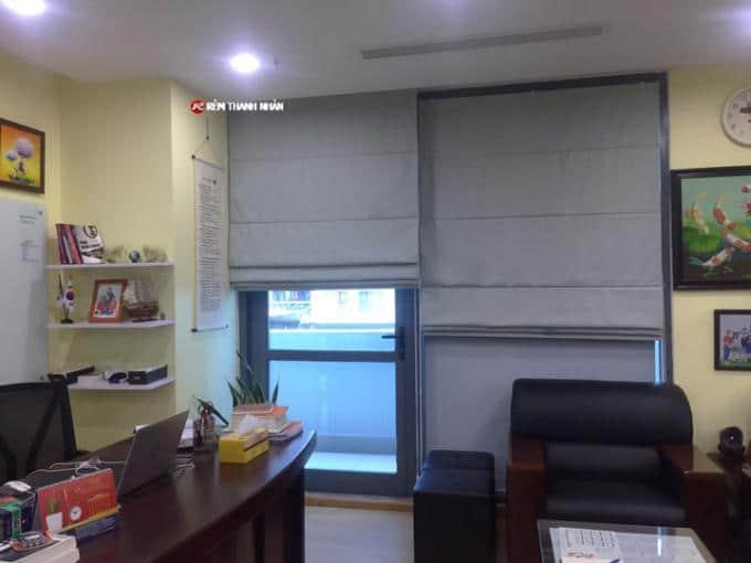 Mẫu rèm xếp 2 lớp RM886-5 chống nắng cách nhiệt cho phòng làm việc