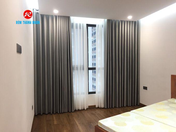 Rèm vải 2 lớp cửa sổ phòng ngủ
