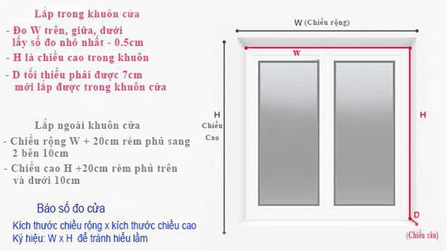 Hướng dẫn cách xác định kích thước rèm cuốn