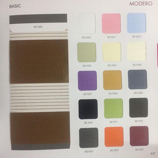 Bảng màu rèm Basic Modero