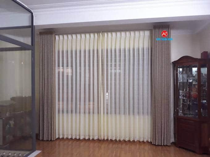 Rèm cửa 2 lớp Lụa cản nắng cản sáng phòng khách