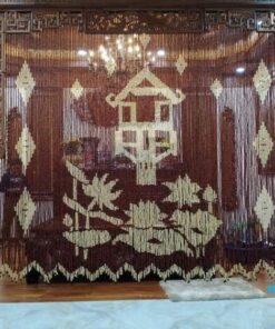 Rèm hạt gỗ Hương che Bàn Thờ