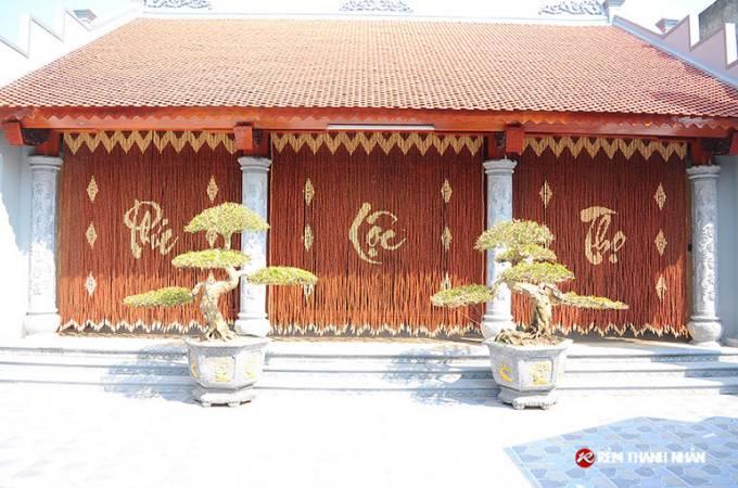 Báo giá rèm treo cửa hạt gỗ