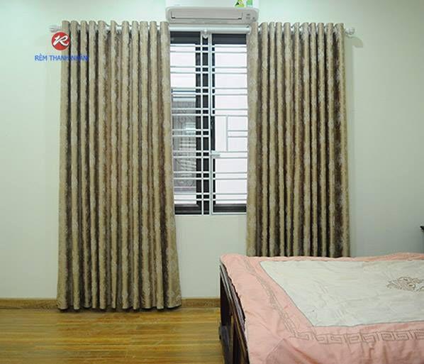 Rèm cửa đẹp vải gấm lụa tổng hợp