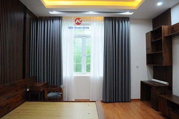 Rèm cửa sổ đep hiện đại vải Hàn Quốc
