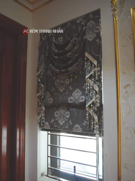 Rèm cửa sổ roman 2 lớp chống nắng phòng ngủ