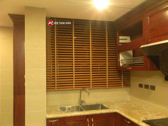 Rèm gỗ cửa sổ phòng Bếp ăn