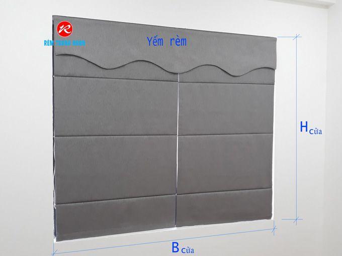 Cách may đo rèm roman cửa sổ