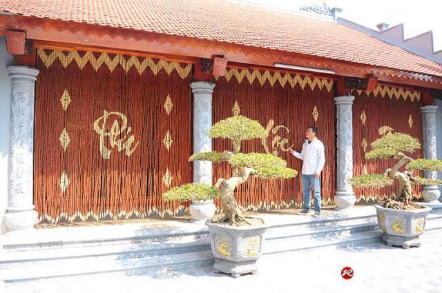 Rèm hạt gỗ Nhà thờ Từ đường