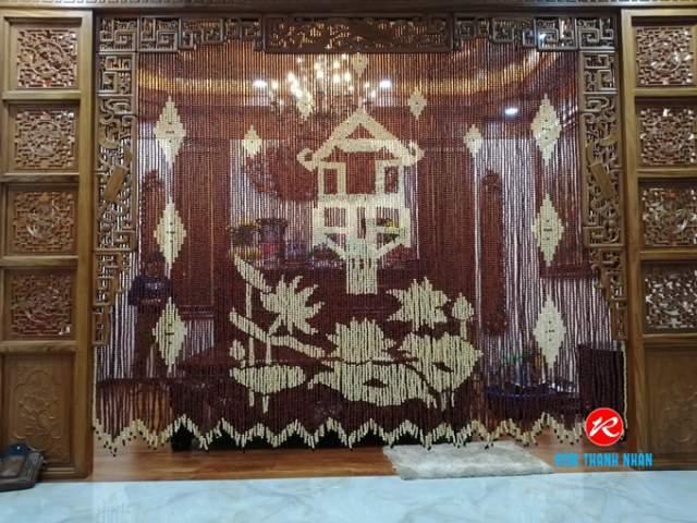 Mành hạt gỗ phong thủy Bàn thờ