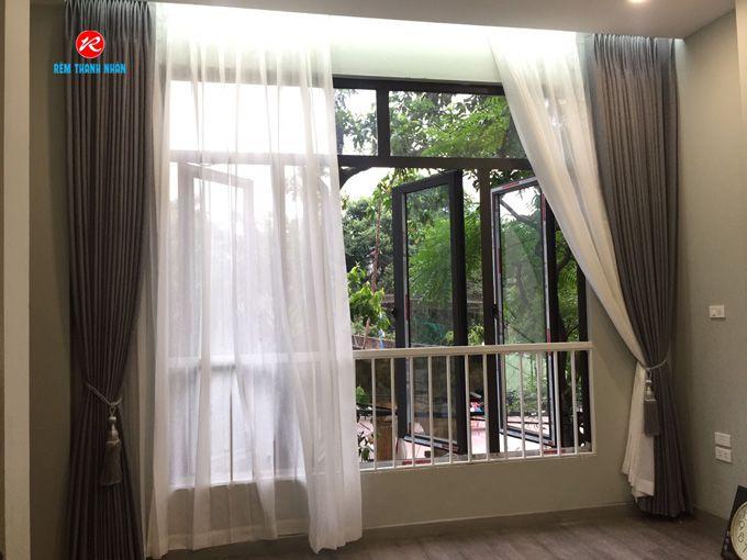 Rèm cửa sổ 2 lớp phòng ngủ vải Hàn Quốc
