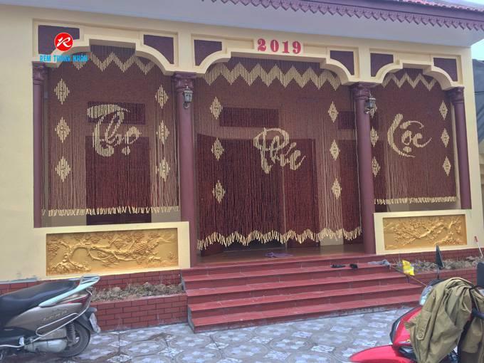 Mành cửa hạt gỗ Hương