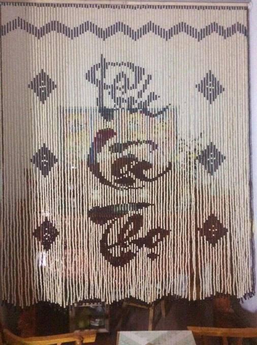 Mành hạt gỗ Bồ Đề chữ Phúc - Lộc - Thọ