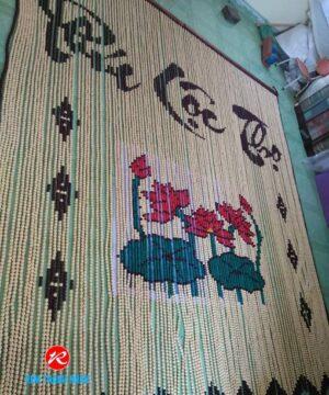 Rèm hạt gỗ Bồ Đề mẫu Hoa Sen