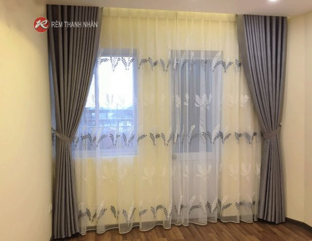 Màn vải 2 lớp đẹp cho phòng ngủ