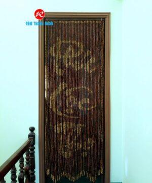 Rèm cửa phòng thờ hạt gỗ Hương chữ Phúc Lộc Thọ