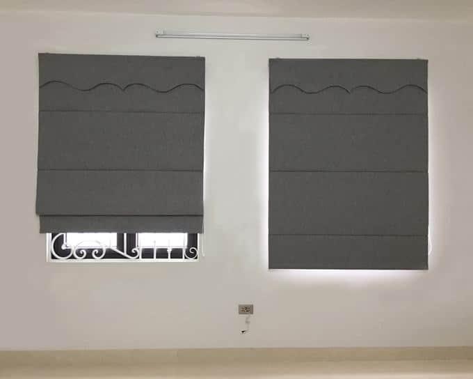 Rèm roman xếp lớp chống nắng cửa sổ
