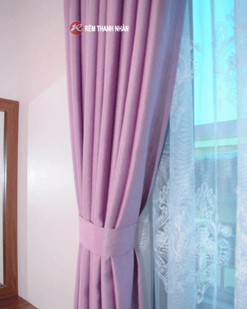 Vải may rèm 02-H16 và vải voan VT-405-1