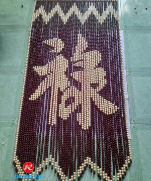 Mành hạt gỗ Bồ Đề chữ Lộc Nho