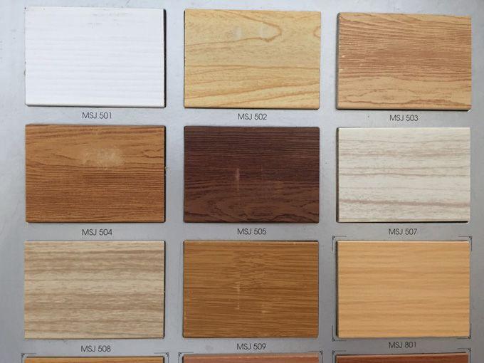 Màu sắc rèm pvc giả gỗ
