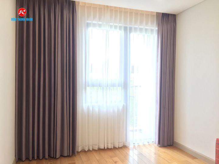 Rèm vải cản nắng 2 lớp phòng ngủ