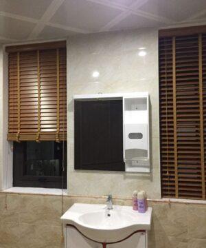 Màn sáo nhựa vân gỗ msj-504 phòng tắm