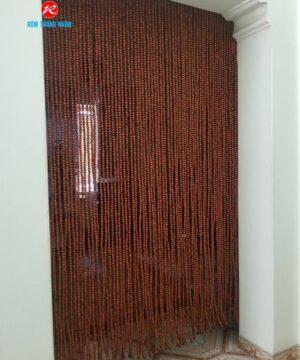 Rèm hạt gỗ phong thờ mẫu Hương trơn
